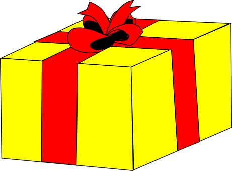 Gift, Box, Yellow, Cardboard, Packaging, Object