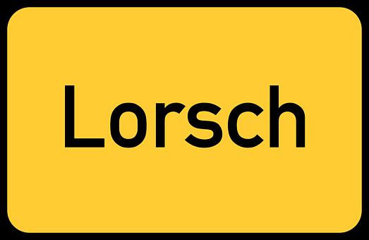 Lorsch, Abbey, Hessen, Hesse, Hessia, Town Sign
