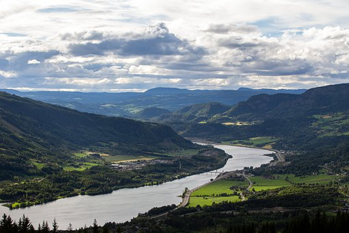 Norway, River, Nature, Landscape, Trees