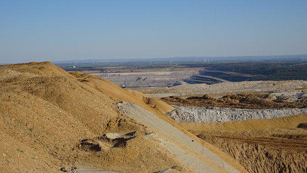 Open Pit Mining, Lunar Landscape, Overburden