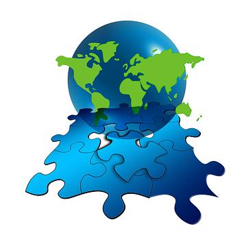 Puzzle, Share, Globe, Earth, World, Globalization
