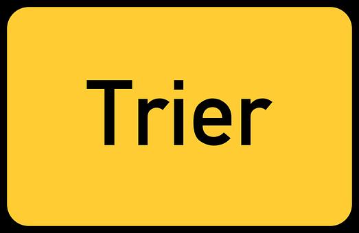Trier, Treves, Rhineland-palatinate, Town Sign