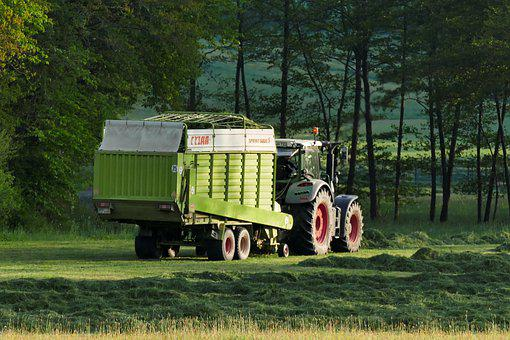Tractors, Agriculture, Harvest, Rural, Grass, Nature