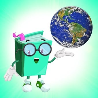 Book, Funny Book, Green Paper, World, Earth