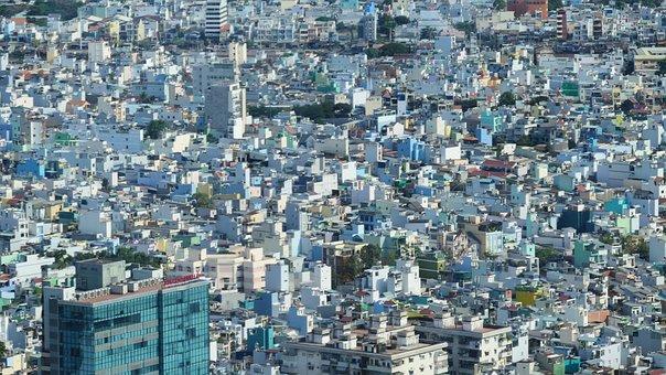 Houses, City, Saigon, Building, Architecture, Cityscape