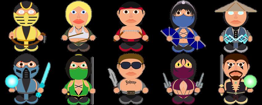 Mortal Kombat, Fan Art, Icons, Icon Set, Characters