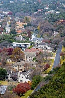 Landscape, Country, House, Austin