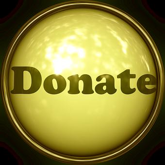 Donation, Button, Icon, Font, Lettering, Mitbringsel