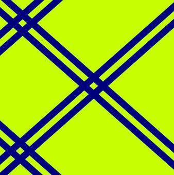Stripes, Angular, Diagonal, Lime Green