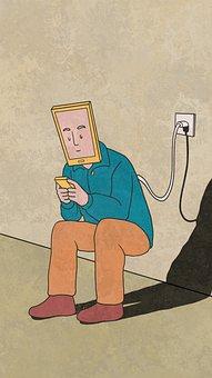 Creativity, Thinking, Painting, Mobile Phone, Internet