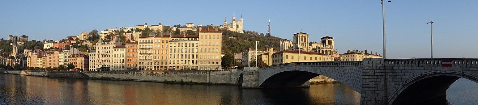 Lyon, France, Landscape, Panorama
