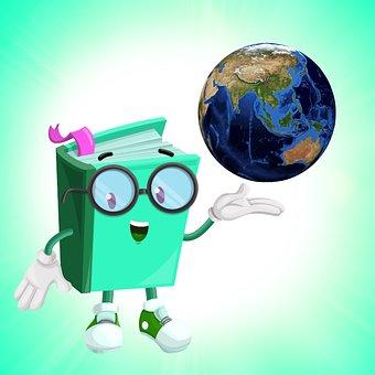 Professor, Book, Funny Book, Green Paper, World, Earth