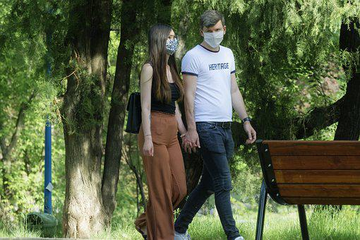 Couple, Young People, The Masks, Protection