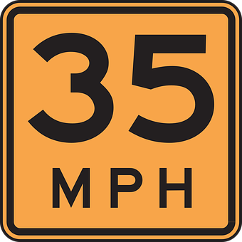 Road, Driving, Speed, 35, Miles, Per