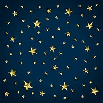 Stars, Night, Sky, Digital, Design, Element, Web, Site