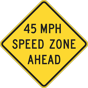 Ahead, Road, Driving, Speed, 45, Mph