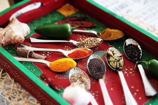 Spice, Spoon, Spices, Food, Kitchen, Chili, Turmeric