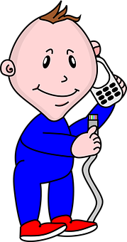 Baby, Cell Phone, Mobile Phone, Calling, Cable