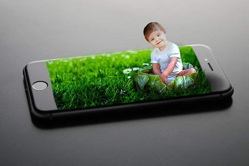 Baby, Cute, Sweet, Mobile Phone, Photoshop, Grass