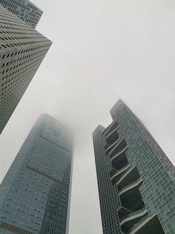 Fog, Building, Shenzhen, Punch Place, City, Nanshan