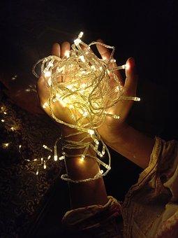 Lights, Strip Light, Colourfullight, Girl, Handlights