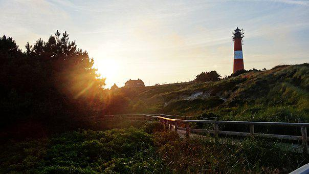 Sylt, Hörnum, Lighthouse, Vacations, Island, Coast