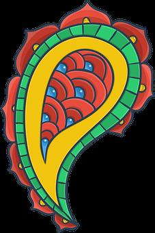 Booth, Turkish Cucumber, Ornament, Pattern
