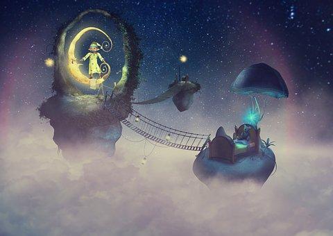 Fantasy, Starry Sky, Moonlight, Sleepyhead, Good Night