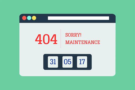 Error, 404, Not Found, Maintenance