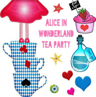 Alice In Wonderland, Felt Clip Art, Tea Party, Alice
