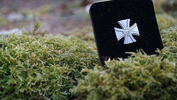 Bundeswehr, Veteran, Badge, Cross Of Honour, Moss