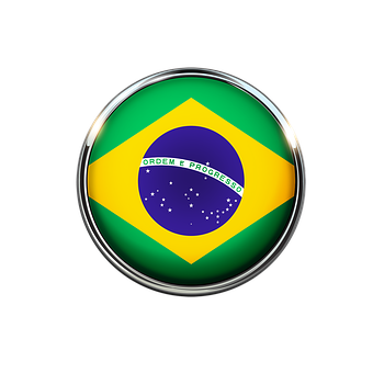 Brazil, Flag, Circle, Colorful, Color