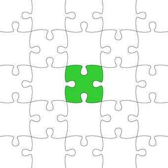 Jigsaw, Puzzle, Green, Last Piece, Part Puzzle