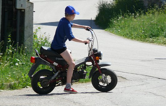 Boy, Holidays, Motorcycle, Discovered