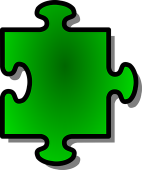 Jigsaw, Puzzle, Game, Single, Piece, Green, Shape, Join