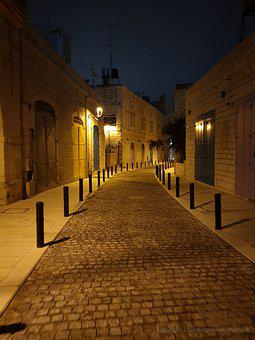 Jerusalem, Holy Land, Faith, Street, Lantern, Monuments