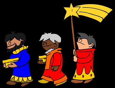 Holy Three Kings, Comet, Ways, Poinsettia, Magi