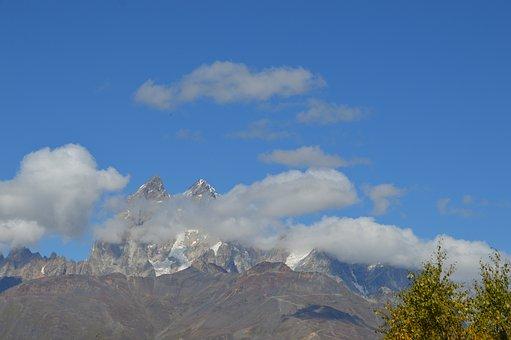 Georgia, Mestia, Oesjba, Mountain Top, Mountains