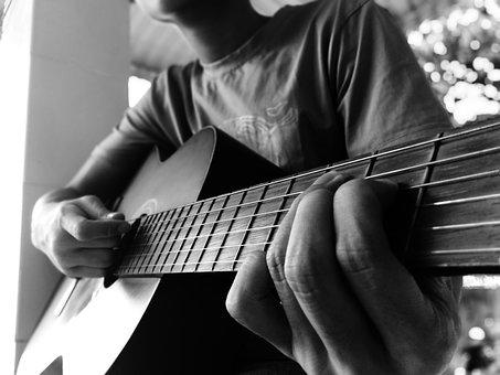 Playing Guitar, Hobby, Leisure Time, Guitar, Stay Home