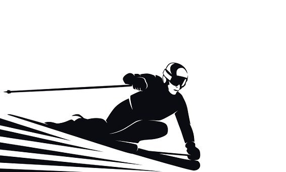 Skis, Narciaż, Speed, Symbol, Race, Exit, Black, Shape