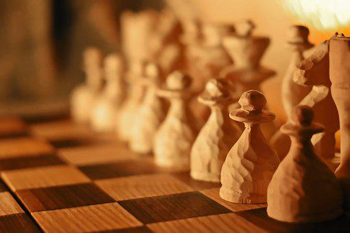 Chess, Board Game, Wood, Selfmade, Background Defocus