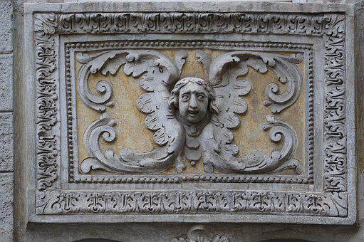 Angel, Relief, Sculpture, Art, Italy, Monument