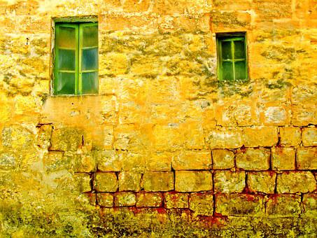 Old Wall, Old Windows, Background, Wall, Old, Window