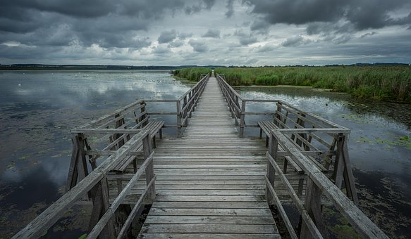 Spring Lake, Wooden Bridge, Boardwalk