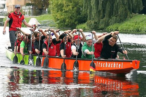 Dragon Boat, Boot, Water Sports, Competition, Sport