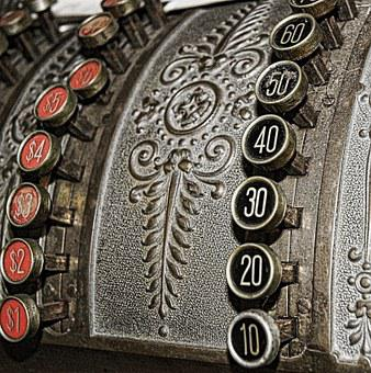 Vintage, Numbers, Cash Register, Old, Retro, Business