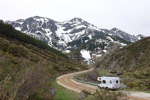 Motorhome, Camper, Mountains, Van, Rv, Travel