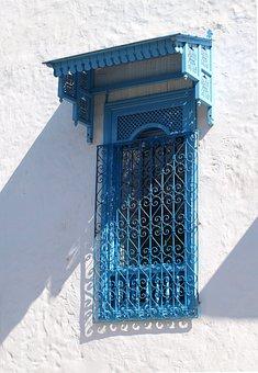 Carthage, Window, Tunis, Historic Center, Blue