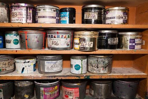 Color, Cans Of Paint, Clamping Colors, Printing