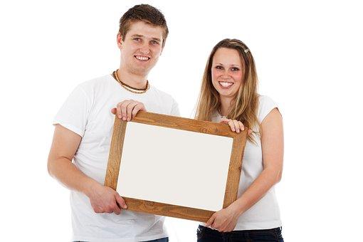 Board, Blank, Border, Couple, Empty, Female, Frame